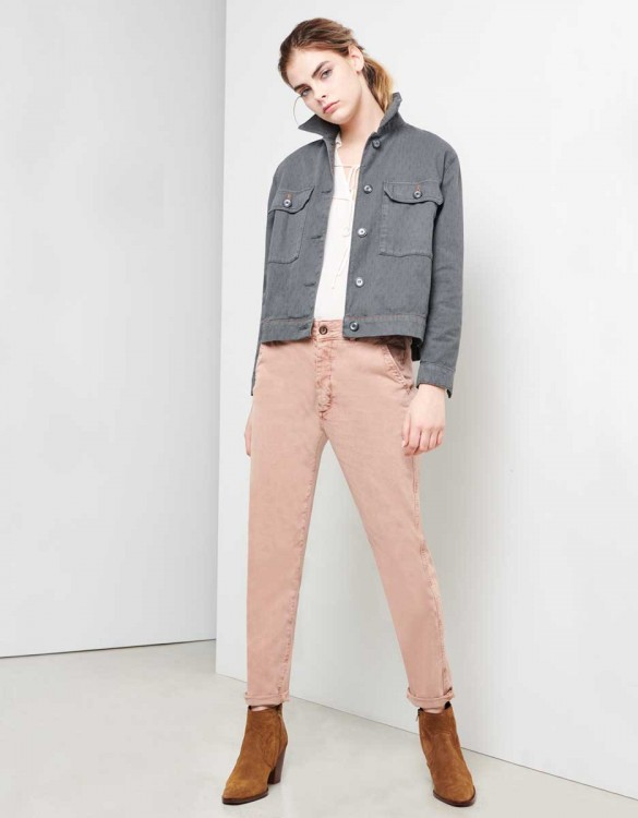 Pantalon chino Sandy Tapered - PRALINE