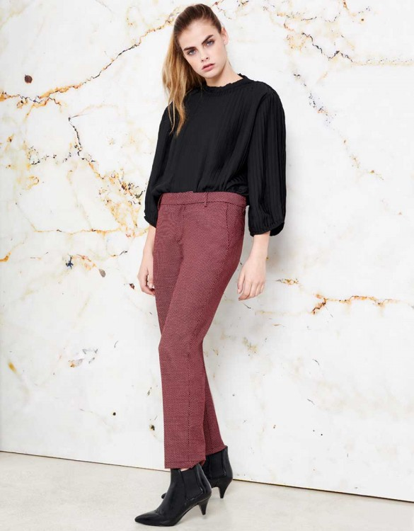 Pantalon cigarette Lizzy Fancy - BERRY
