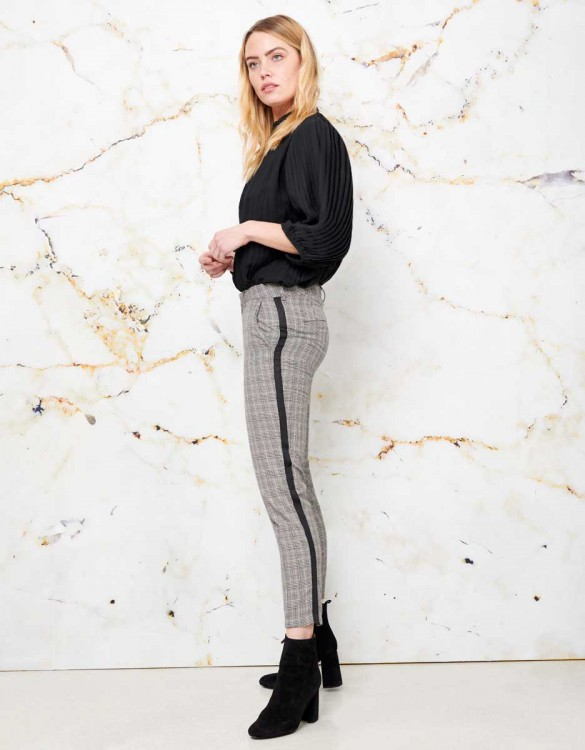 Cigarette Trousers Lizzy Fancy - HERRING CHECK