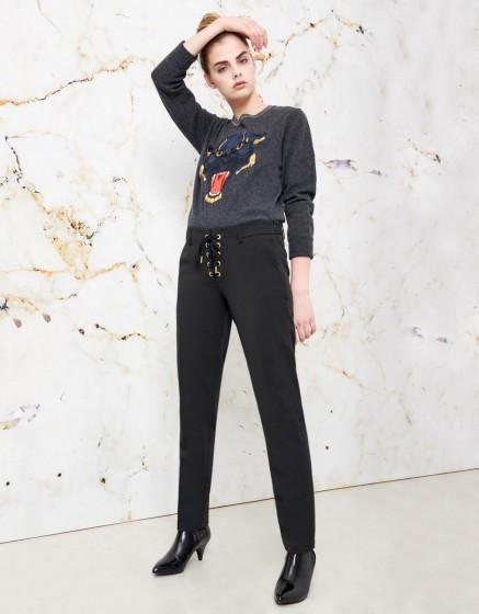 Pantalon cigarette Louison color - BLACK