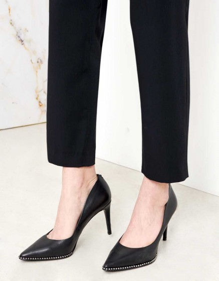 Pantalon Loose cigarette Luna color - BLACK