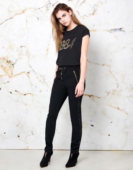 Street trousers Esteban - BLACK