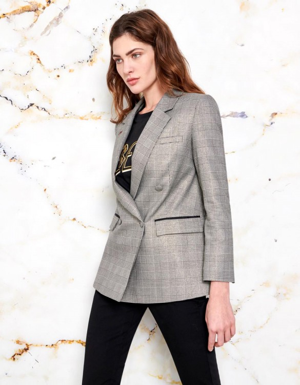 Blazer Barbara - COATED CHECKED
