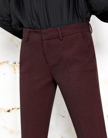 Pantalon cigarette Lizzy Fancy - DARK WINE