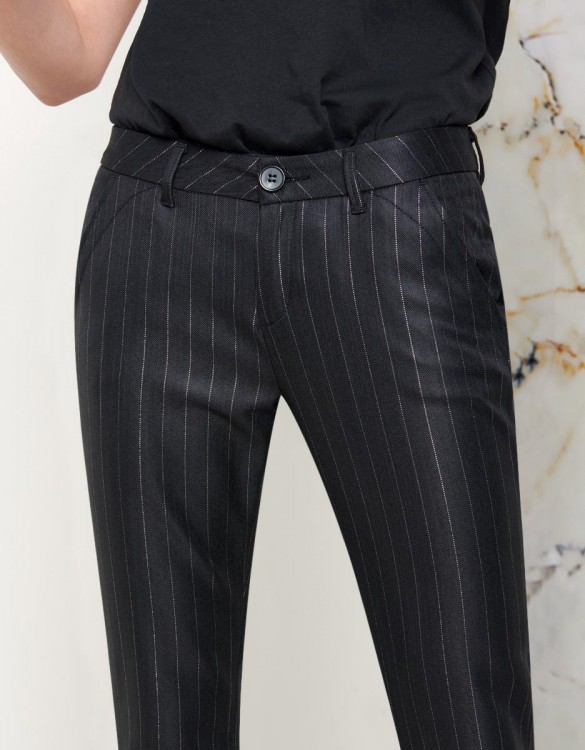 Pantalon chino Sandy Fancy - BLACK SILVER