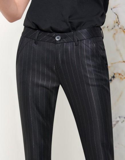 Pantalon chino Sandy Fancy - BLACK SILVER