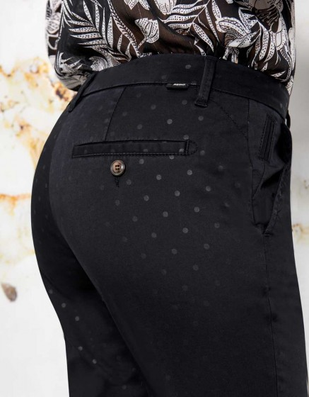 Chino Sandy Skinny Printed - DOTS BLACK