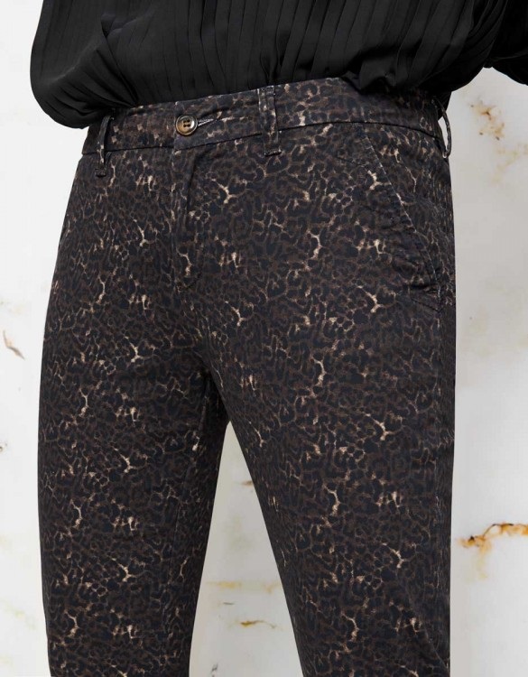 Chino Sandy Skinny Printed - BROWN LEO