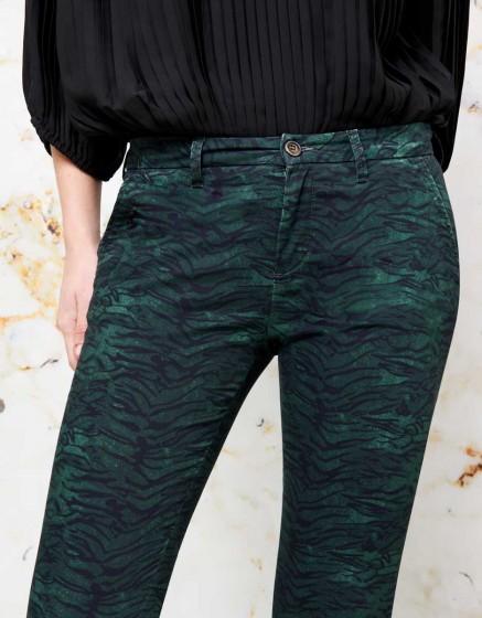 Chino Sandy Skinny Printed - GREEN TIGER