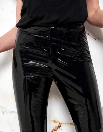 Glossy legging Olga - BLACK