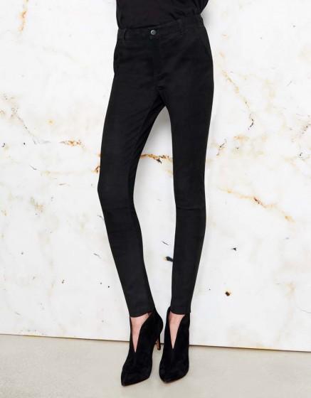 Skinny jean Nael cuir - BLACK