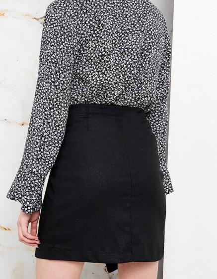 Skirt Jeanne Fancy - GLITTER BLACK