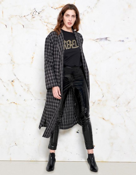 Coat Magali - BLACK PLAID