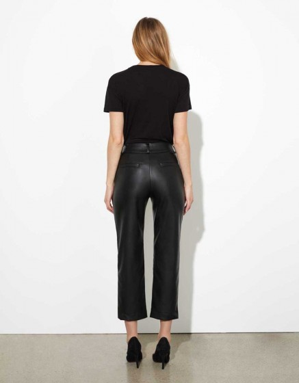 Pantalon cigarette straight cropped Liv - BLACK ROCK