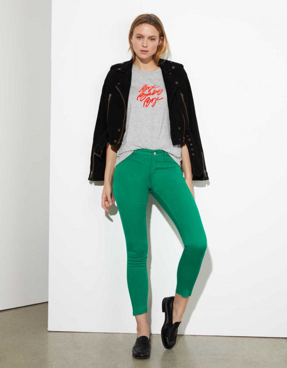 Pantalon skinny cropped Lily Legging - GREENERY