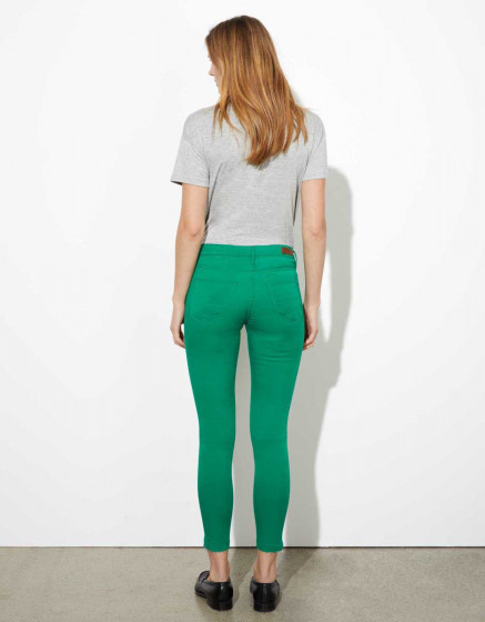 Trousers skinny cropped Lily Legging  - GREENERY