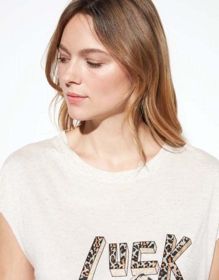 Tee-shirt Tao - BEIGE CHINE