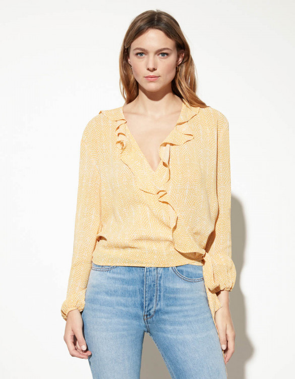 Blouse Blondie - YELLOW SNAKE