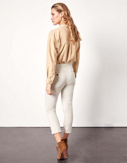 Trousers chino Sandy Tapered - LATTE