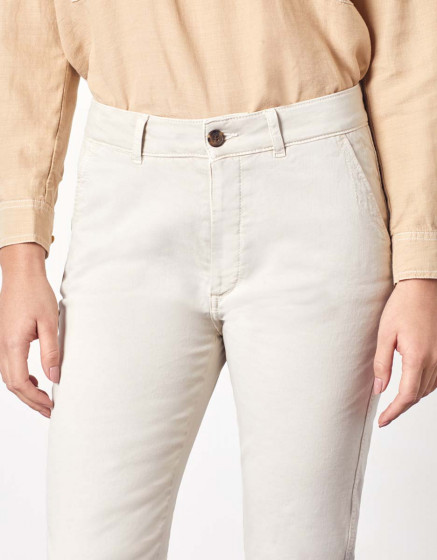 Pantalon chino Sandy Tapered - LATTE