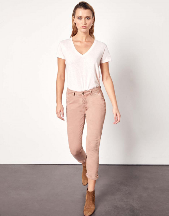 Pantalon chino Sandy Tapered - PINKSAND