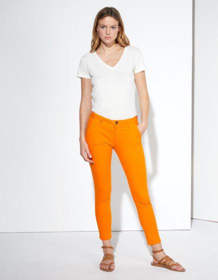 Pantalon chino Sandy Cropped - BRIGHT ORANGE