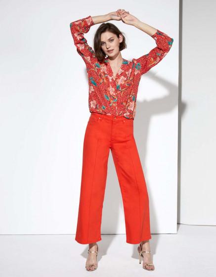 Jean wide Poppy Color - FIESTA