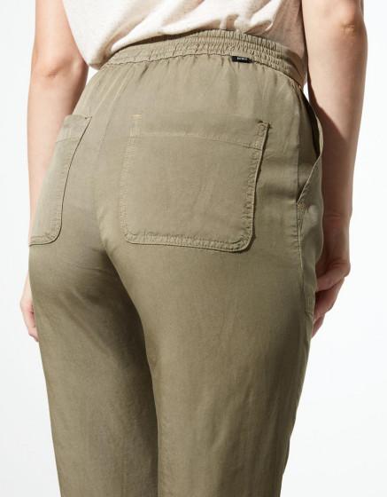 Pantalon loose cigarette Pura - VINTAGE KAKI