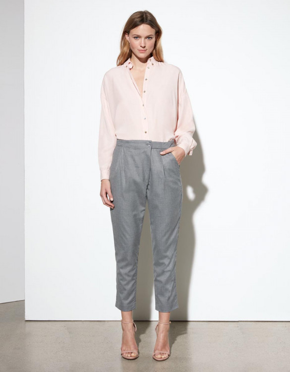 Pantalon loose cigarette Luna Fancy - PINK TAILORING