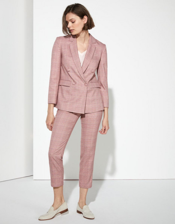Blazer Barbara - PINK CHECKS
