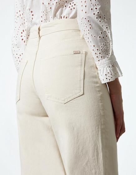 Pantalon wide Poppy - DNM ECRU