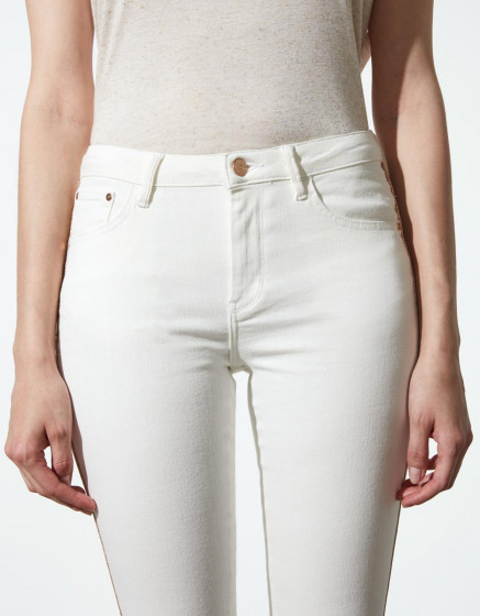 Skinny cropped jean Lily Herring - DNM OFF WHITE