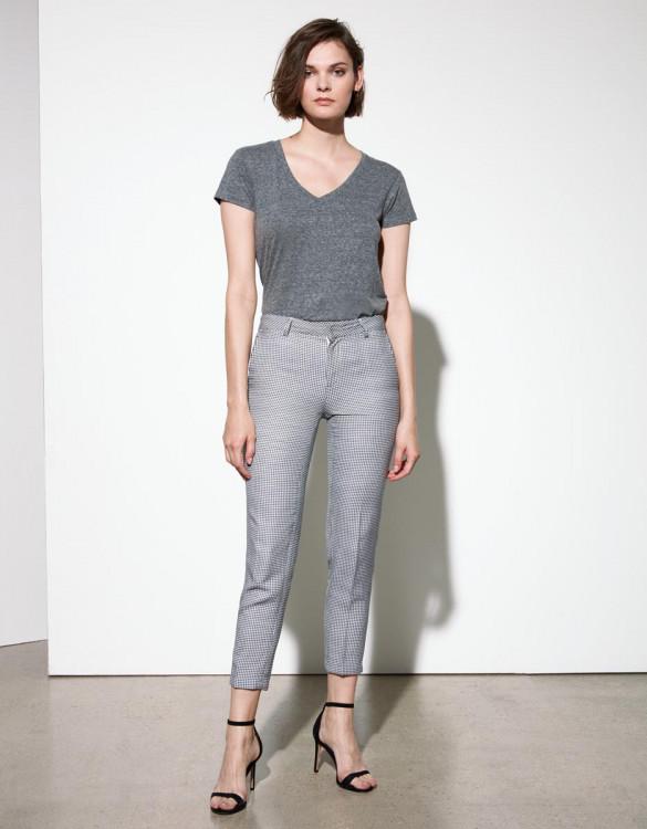 Cigarette trousers Liv Fancy - BLUE GEO