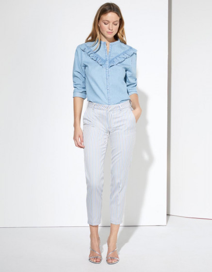 Pantalon cigarette Liv Fancy - PYJAMA STRIPES