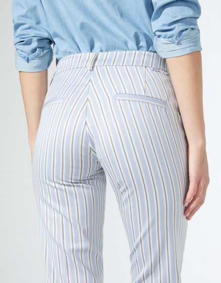 Cigarette trousers Liv Fancy - PYJAMA STRIPES
