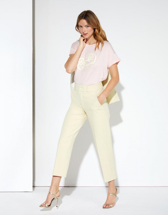 Cigarette trousers Liv Straight Cropped  - YELLOWDIAMOND