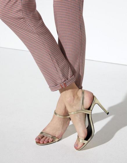 Pantalon chino Sandy Fancy - ORANGE HOUNDSTOOTH