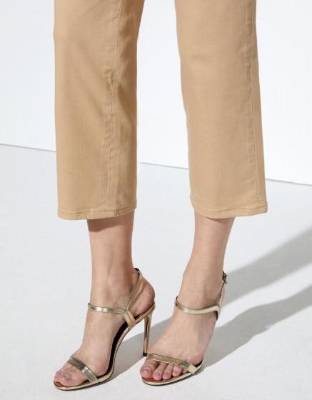 Pantalon chino Sandy Highwaist Cropped - BEIGE