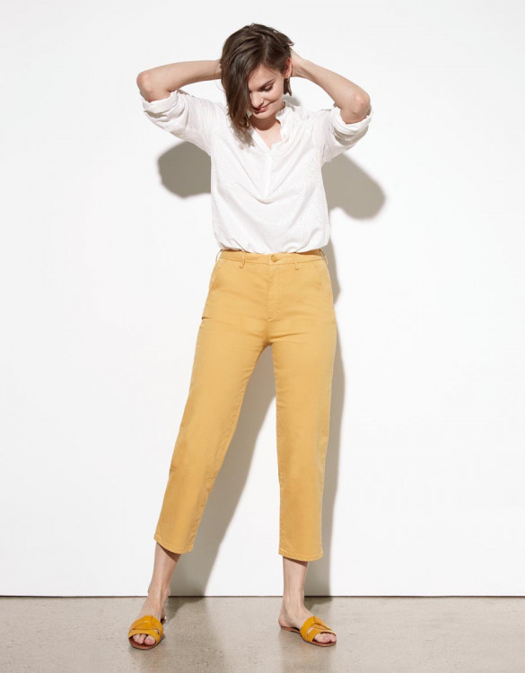 Chino trousers Sandy Highwaist Cropped - MANGUE