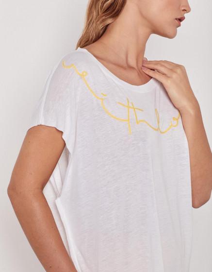 Tee-shirt Eloise - WHITE CHINE