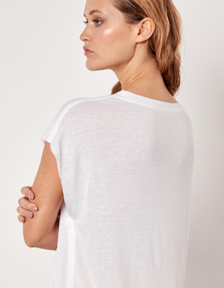 T-shirt Eloise - WHITE CHINE
