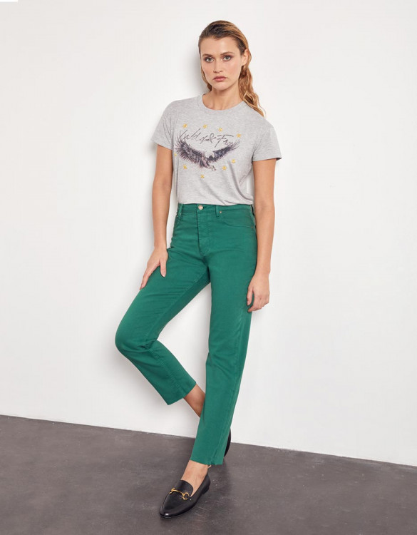Jeans high waist cropped Milo Color - GARDEN