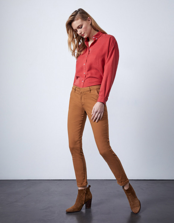 Chino trousers Sandy 2 Basic - NOUGAT
