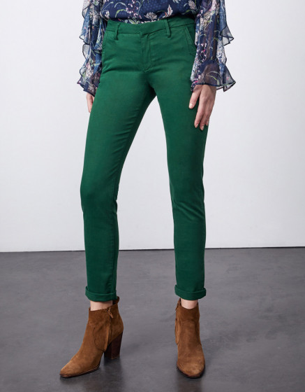 Pantalon chino Sandy 2 Basic - SMOKE PINE