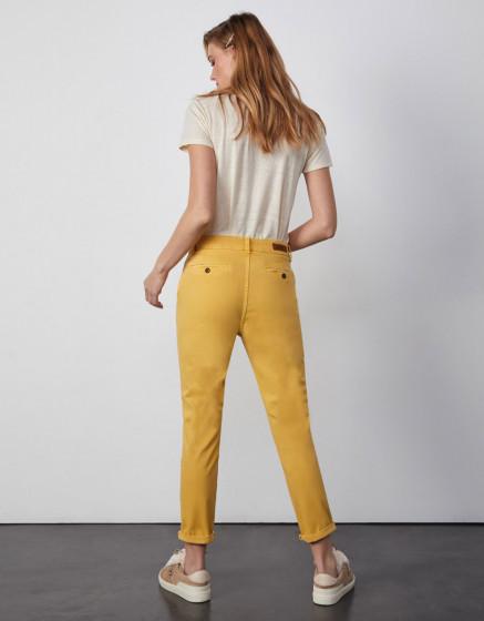 Pantalon chino Sandy Tapered - MUSTARD