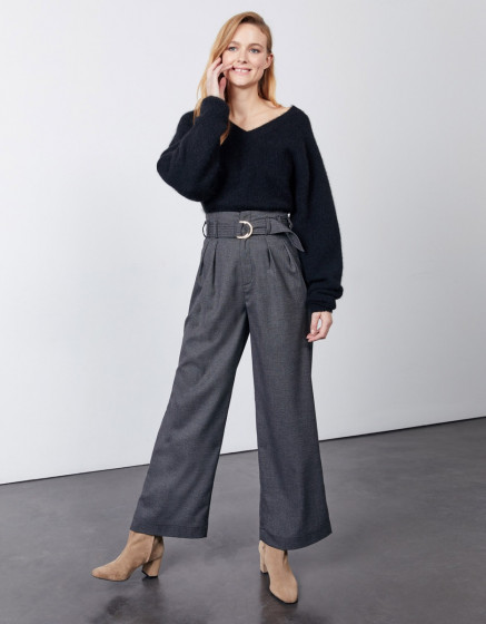 Pantalon wide Gabby Fancy - BLENDED BLACK
