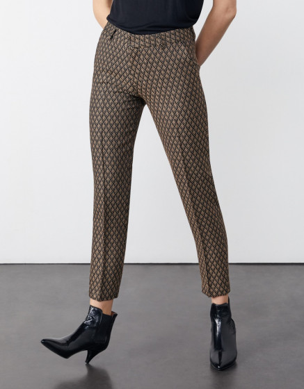 Cigarette trousers Liv Fancy - ROYAL LEAVES