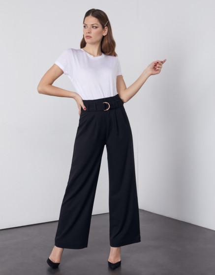 Pantalon wide Gaby Color - BLACK