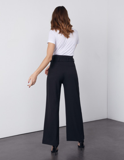 Wide trousers Gaby Color - BLACK