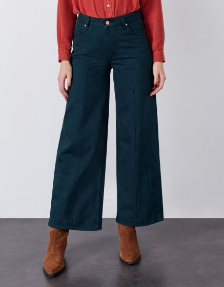 Wide jean Poppy Color - DEEP FOREST